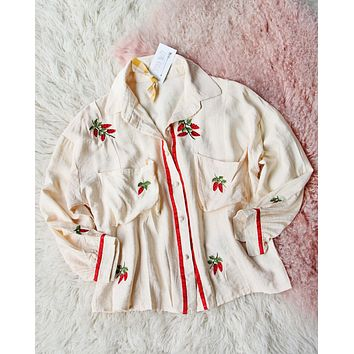 Frosty Strawberry Blouse