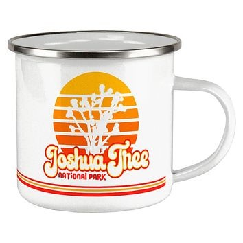 National Park Retro 70s Sunset Joshua Tree Camp Cup