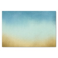 Stylish Blue and Gold Ombre Tissue Paper
