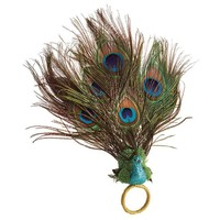 PEACOCK NAPKIN RING S/4