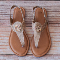 Taupe Tory Sandals