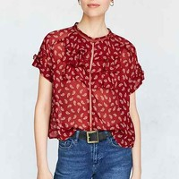 Cooperative Betsey Short-Sleeve Ruffle Blouse