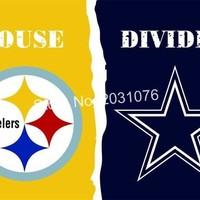 Pittsburgh Steelers vs. DALLAS COWBOYS house divided Rivalry Flag 3x5 ft90x150cm polyester custom flag