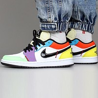 Bunchsun Air Jordan1 Retro Low AJ1 Fashionable Women Casual Basketball Sport Shoes Sneakers