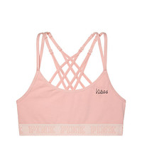 Cotton Strappy-Back Bralette - PINK - Victoria's Secret