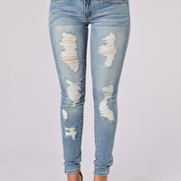 Disobedient Jeans - Medium Blue