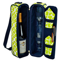 Sunset Wine Carrier, Green Trellis, Coolers & Thermal Bags