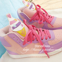 fairy kei ice cream sneakers from WhipCreamLove