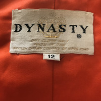 Lush Beaded Orange Velvet Bolero Jacket, Early 90s Glitzy Designer Fashion, Boho Glam Southwestern Mash Up and the Brand is DYNASTY! AB FAB