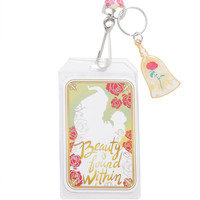 Loungefly Disney Beauty And The Beast Enchanted Rose Lanyard