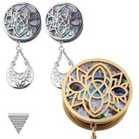 Ornate Abalone Hanging Plugs