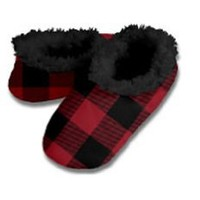 Snoozies Men's Buffalo Plaid Footcoverings