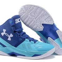Men's Under Armor Curry 2 Signature Basketball Shoes Blue 40-46