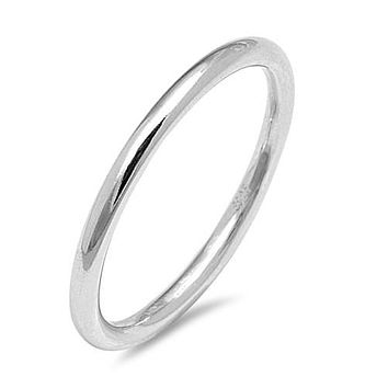 A 3mm 925 Sterling Silver Platinum Wedding Band