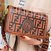 Fendi Fashion New More Letter Leather Shoulder Bag Crossbody Bag
