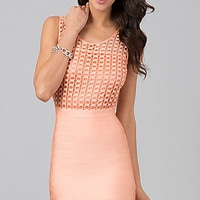 Sleeveless Short Fitted Dress by Wow Couture