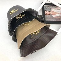 Dior double faced fisherman hat