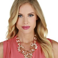 Sale-pink Better Beaded Necklace