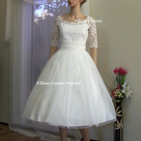 Leila - Vintage Inspired Wedding Dress. Beautiful Retro Style Bridal Gown.