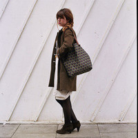 nette'. leather good. ? Tote Bag w. Leather Straps.