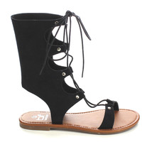 Women's Lace Up Gladiator Flat Heel Sandals