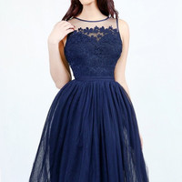 Affordable Short Bridesmaid Prom Evening Dress in Navy