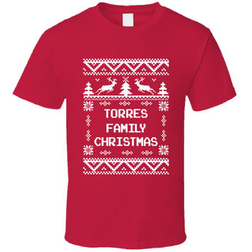 Youth Torres Family Christmas Ugly Sweater T-Shirt