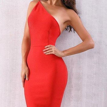 Diana One Shoulder Bandage Dress