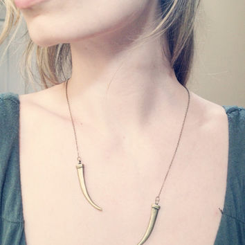 Daenerys Khaleesi Open Necklace in Classic Brass, Game of Thrones Jewelry