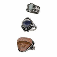 Tribal Semi Precious Ring Pack - Multi