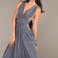 Draped Skirt Ruched Gown by Jovani Prom