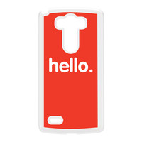 Hello White Hard Plastic Case for LG G3 by textGuy