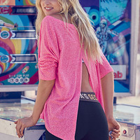 Flyaway-back Tee - Marled Tees - Victoria's Secret
