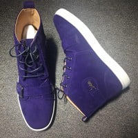 Cl Christian Louboutin Suede Style #2232 Sneakers Fashion Shoes