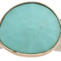 14K Gold Rose-Cut Turquoise Ring, Stone & Novelty Rings