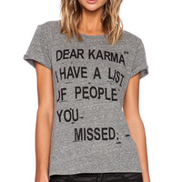 Local Celebrity Dear Karma Graphic Tee in Gray