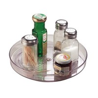 """InterDesign Linus Lazy Susan Turntable Spice Organizer Rack for Kitchen Pantry, Cabinet, Countertops - 9"""", Clear"""