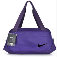"""Nike"" Pattern Casual Travel Bag Handbag The Single Shoulder Bag Purple"