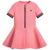 Versace Girls Pink Neoprene Dress
