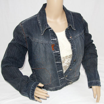 Mecca Femme Denim Jacket with Sequins