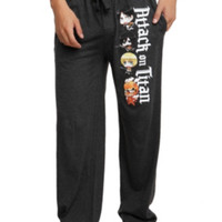 Attack On Titan Chibi Men's Pajama Pants