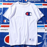 Champion Woman Men Youth Tide Brand T-shirt Shirt Top Tee