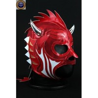 DRAGON DRAGO RED Lycra Mexican Wrestling Lucha Libre Mask Halloween Mask Costume - Mr. Maskman