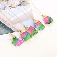 Rainbow Rose - Natural Stone Necklace
