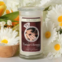 Cabernet Sauvignon Ring Candle Wine Candle Collection