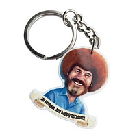 Bob Ross - Happy Accidents Keychain