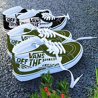 Vans Old Skool Classics Leisure Skate shoes  Sneaker Three-Colorful Optional Army green