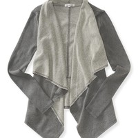 Draped French Terry Cardigan