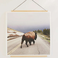 Wooden Print Dowel Hanger | Urban Outfitters