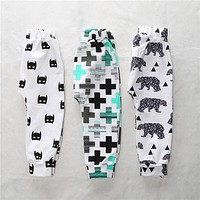 high quality baby cotton pants bebe girl boy baby pants gorros fox Trousers panda Toddlers Infant children clothes For 4 -24M